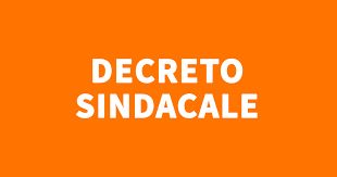 Decreto sindacale n. 35 del 09-11-2020